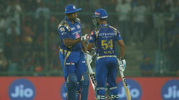Kieron Pollard and Lendl Simmons guided Mumbai Indians to a comprehensive 146-run victory over Delhi Daredevils in IPL 2017 on Saturday night.(BCCI)