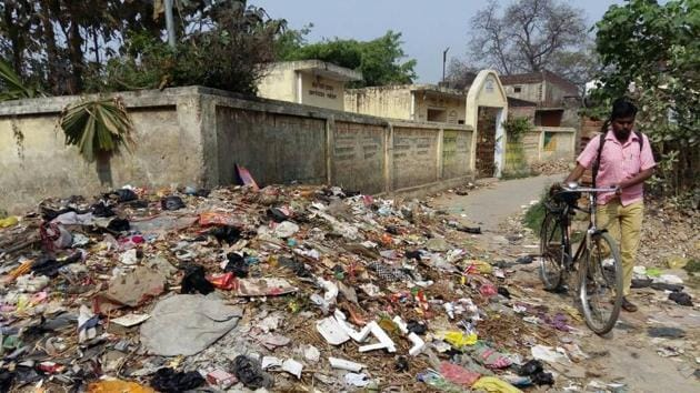 Gonda, a town in Uttar Pradesh, was ranked as the dirtiest city as per the survey.(HT Photo)