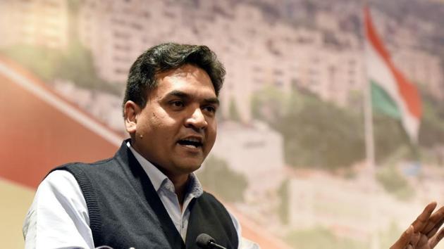 Sacked Delhi minister Kapil Mishra.(Sonu Mehta/HT Photo)