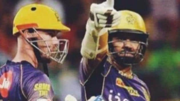 Shah Rukh Khan celebrated Kolkata Knight Riders' win against Royal Challengers Bangalore with a tweet that links KKR heroes Sunil Narine and Chris Lynn with characters from his Bollywood hit Kabhi Haan Kabhi Naa(Twitter - SRK)
