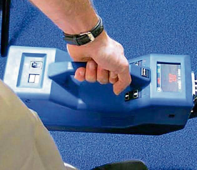 The I-scan equipment, which has the ability to detect traces of explosives and narcotics.(Courtesy: Laser-detect.com)