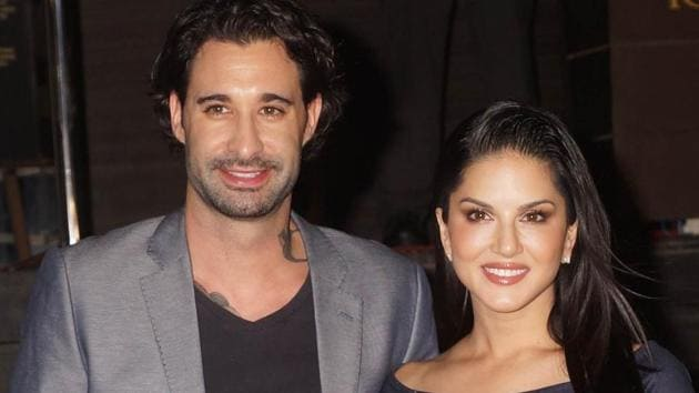 Actor Sunny Leone with husband Daniel Weber. She says she is a simple person and not into big birthday parties.(Prodip Guha)