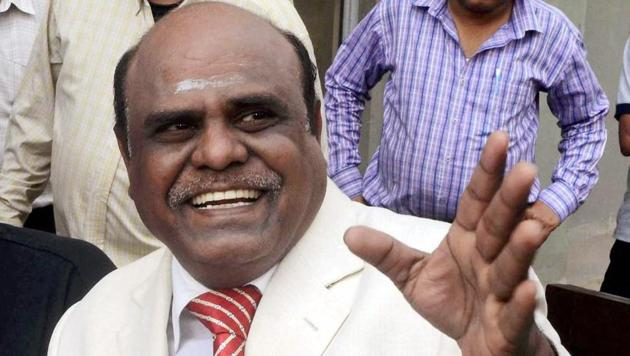 Justice CS Karnan is the first sitting high court judge to be convicted of contempt.(PTI file)