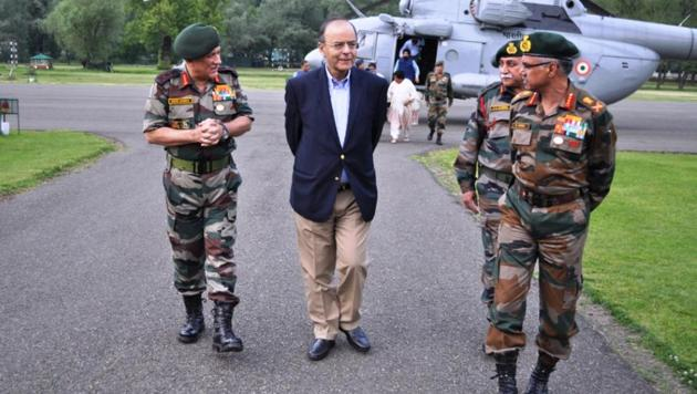 Arun Jaitley reviewed the security situation in Kashmir on Thursday.