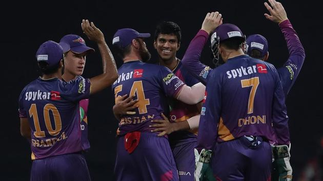 Washington Sundar picked up 3/16 as Rising Pune Supergiant defeated Mumbai Indians by 20 runs to enter the final of IPL 2017.(BCCI)
