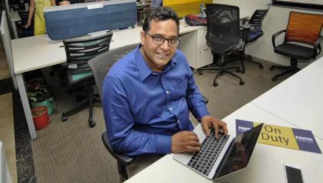 CEO and founder of Paytm, Vijay Shekhar Sharma, at his office, in Noida.(HT Archive)