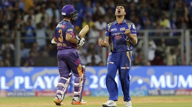 Mumbai Indians will face Rising Pune Supergiant in the IPL 2017 final in Hyderabad on Sunday. MI are in their fourth IPL final while RPS are playing their first in two years.(AP)