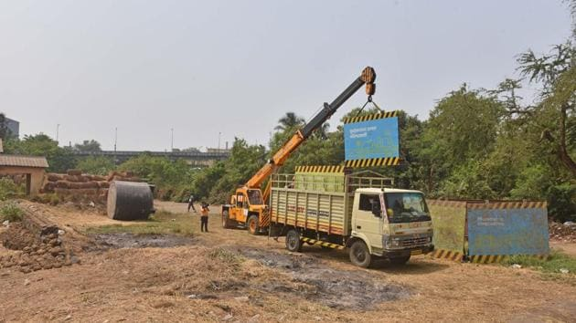 The Aarey land is very close to the area allocated to the Mumbai Metro Rail Corporation (MMRC) for the construction of a car-shed for the Metro-3 (Colaba-Bandra-SEEPZ) project.(HT)