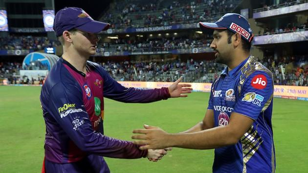 Rising Pune Supergiant captain Steven Smith and Mumbai Indians skipper Rohit Sharma will be locking horns for one last time this season in IPL 2017 final in Hyderabad on Sunday. Five key battles will decide who wins the title.(BCCI)