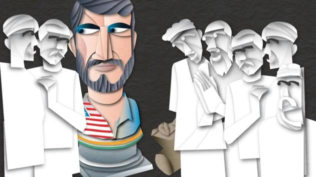 An American talks about Indians' hospitality towards white foreigners and black foreigners.(Illustration: Malay Karmakar)