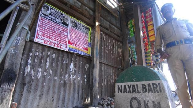 Naxalbari village in West Bengal where in 1967 a peasant uprising against landlords led to the birth of a wider leftist rebellion.(Indranil Bhoumik/ Mint file photo)