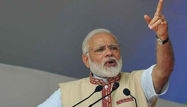 PM Modi, who was on a whirlwind tour of Assam, laid the foundation stone by pressing a remote from the Sarusajai stadium in the state's capital.(PIB India)