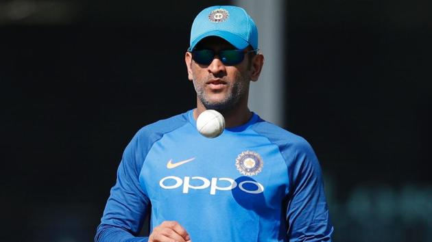 <p>India's Mahendra Singh Dhoni attends a practice session at Lord's Cricket Ground in London.</p> (AFP)