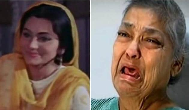 Reports claims actor Geeta Kapoor has been abandoned by her son. Filmmakers Ashoke Pandit and Ramesh Taurani have paid her hospital bills.