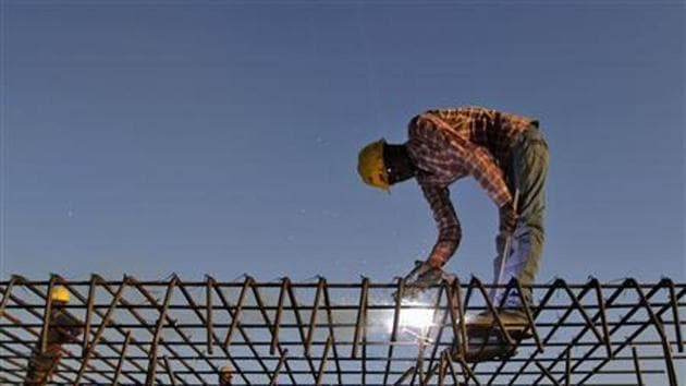 A man working at a construction site.(Reuters photo)