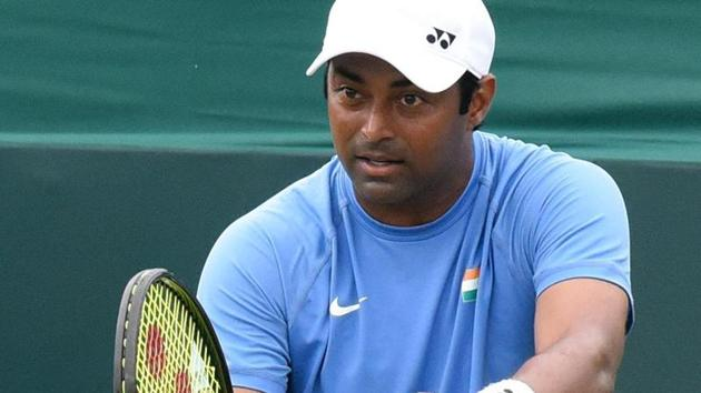 Leander Paes is out of French Open men's doubles category.(Hindustan Times)