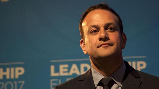 Leo Varadkar listens to a speech after his victory in the party leadership election, at the National Count Centre in Mansion House, Dublin on June 2.(AFP Photo)