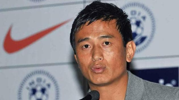 Football-player-Bhaichung-Bhutia-announces-his-retirement-from-the-international-football-during-an-event-in-New-Delhi(HT Photo)