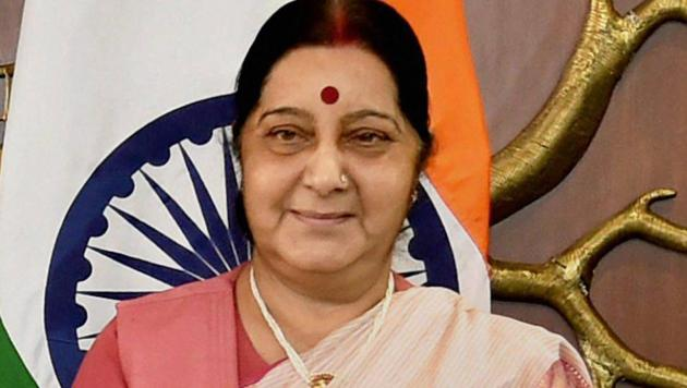 Union external affairs minister Sushma Swaraj has 8.1 million followers on Twitter compared with finance and defence minister Arun Jaitley, who has 7.1 million followers, an analysis by a research agency has shown.(PTI File Photo)