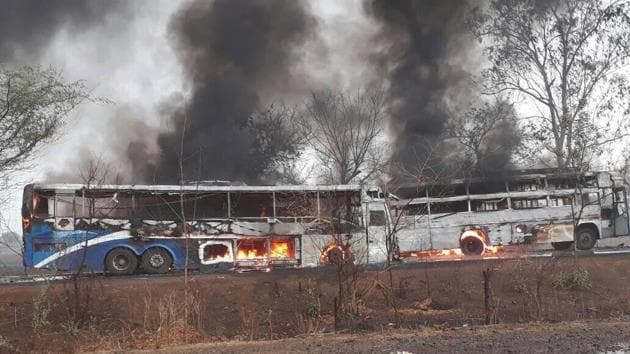 The agitation turned violent after five farmers died in police firing in Mandsaur district.(HT Photo)