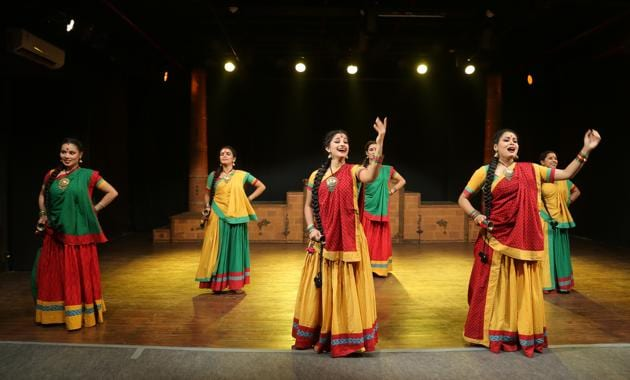 Ghazab Teri Adaa is an anti-war comedy based on Greek playwright Aristophanes' Lysistrata where women take a vow to withhold sex to force men to stop a war.(Photo: Courtesy National School of Drama)