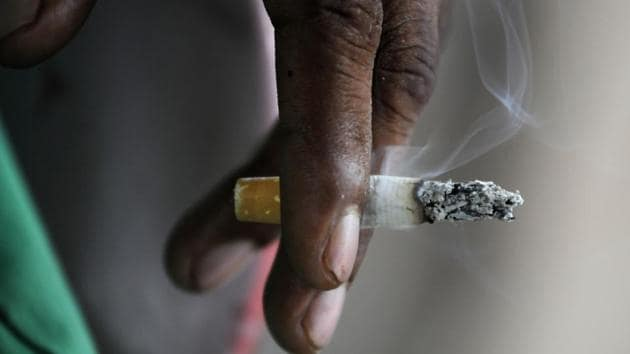 Even with the decline, every fifth adult — about 199-million people — uses tobacco products in India.(Sunil Ghosh/HT File Photo)