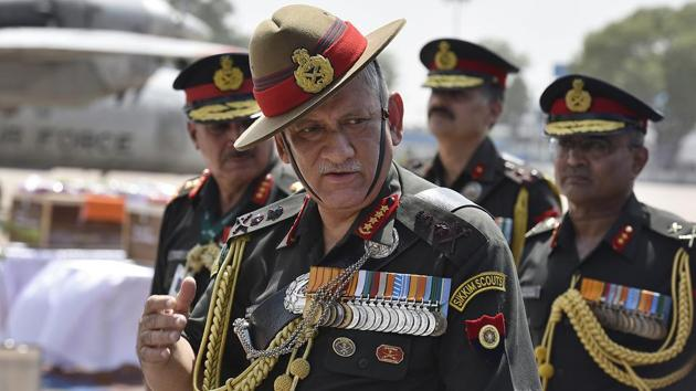 Army chief General Bipin Rawat was in Dehradun for the passing out parade of the Indian Military Academy.(HT FILE PHOTO)