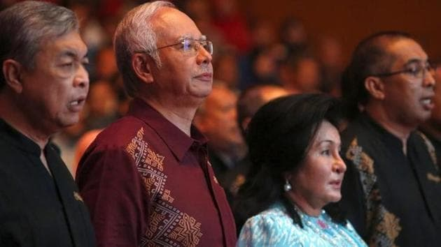 Malaysia Prime Minister Najib Razak and his wife Rosmah Mansor seen before the premier's National Day speech in the capital city of Kuala Lumpur on August 30, 2015.(Reuters)