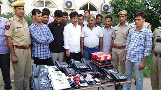 The gang came under the radar of the crime branch after a resident from Ashok Nagar was duped of more than ₹40 lakh.(HT Photo)
