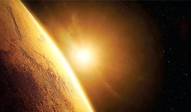 The Mars Orbiter Mission launched by India in November 2013 has completed 1000 earth days in orbit.(ISRO)