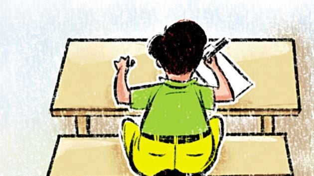 Currently, board-level exams are conducted in Class 10 and 12.(Shrikrishna Patkar/HT)
