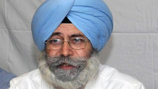 HS Phoolka , the leader of Opposition in Punjab Vidhan Sabha(HT Photo)
