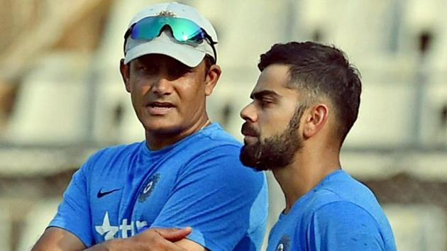 Anil Kumble (L), seen here with Virat Kohli , resigned as the coach of the Indian cricket team earlier this week.(PTI)