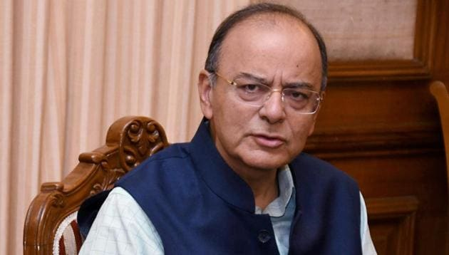 Arun Jaitley addresses a press conference regarding Goods and Services Tax (GST) in New Delhi on Tuesday.(PTI Photo)