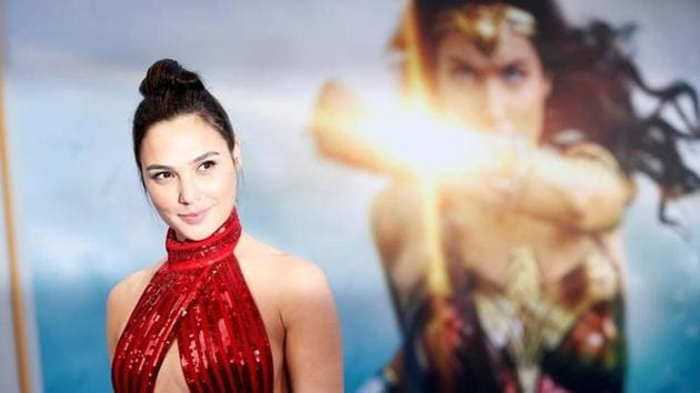 Gal Gadot poses at the premiere of Wonder Woman in Los Angeles.