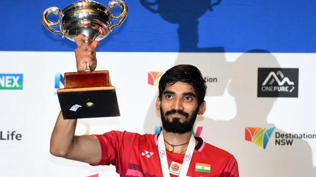 <p>Kidambi Srikanth won his second consecutive Superseries title on Sunday after beating Olympic champions Chen Long in the Australian Open final.</p> (AFP)