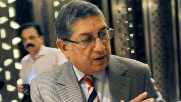 NSrinivasan also blasted the Committee of Administrators' (COA) decision to continue with the administrative staff of the ICC Champions Trophy for the West Indies tour as well(AFP)