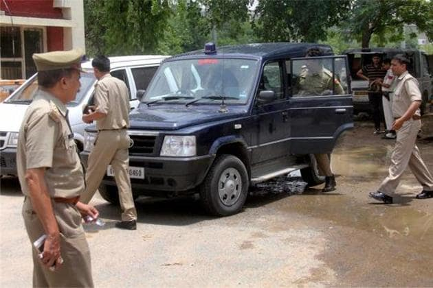 Traffic police officials on condition of anonymity said the challan will be sent by post to the DGP's office.(PTI Photo)