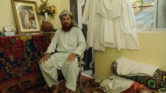 Dadgul Khan, one of the Kabuliwalas, at home in Kolkata.(Samir Jana/HT PHOTO)