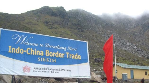 Nathu La Pass was once a peaceful border from where India and China started trade activities some years ago.(HT File Photo)