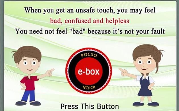 The e-box button on the NCPCR website enables the child to file a complaint.