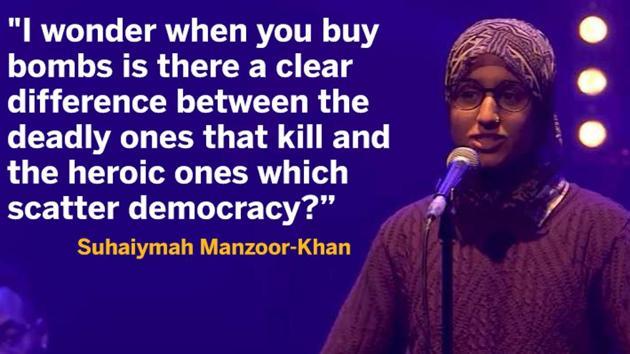 A 22-year-old Muslim woman's poem crushing Islamophobia has gone viral.(YouTube screengrab)