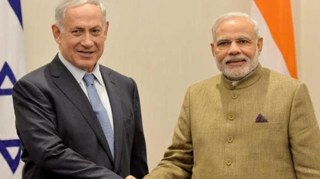 File photo of Israel Prime Minister Benjamin Netanyahu and his Indian counterpart Narendra Modi.(Courtesy Israel Prime Minister's Office)