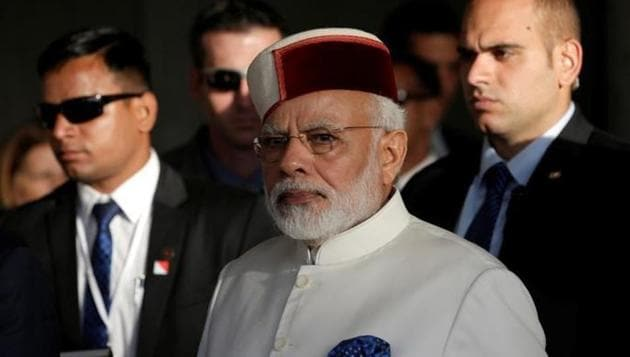 Himachali cap donned by Prime Minister Narendra Modi during his visit to Israel.(Reuters)