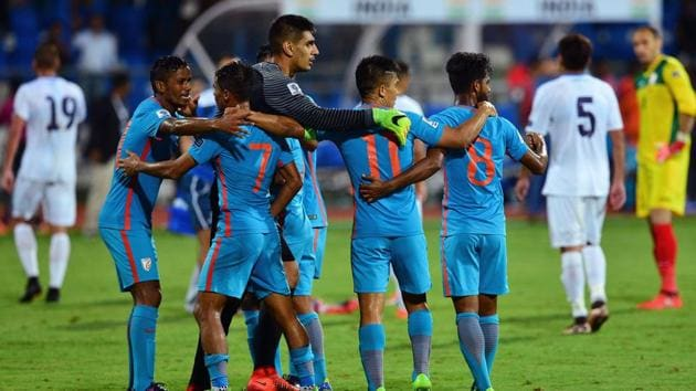 The Indian national football team has achieved its best FIFA ranking in 21 years.(AFP)
