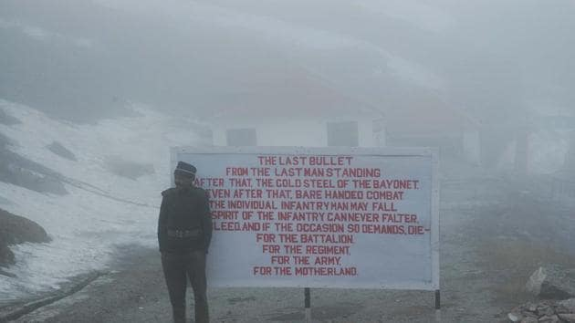 A file picture of the India-China border at Sikkim. India and China have a delimited and demarcated international border in Sikkim, going back to the Anglo-Chinese convention of 1890. But the boundary between Tibet and Bhutan is disputed and hence the location of the trijunction remains contested.(Ashok Nath Dey)