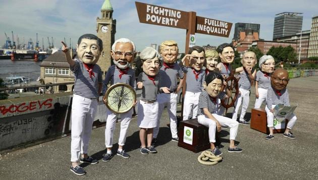 Leaders of the world's top economies are set to meet for the 2017 G20 summit, scheduled for July 7-8, 2017 in Hamburg, Germany. As the global participants arrive, thousands of anti-capitalist demonstrators, including several thousand leftwing extremists, have been demonstrating against the forum which is expected to focus on global trade, stability and environmental policies. The two-day summit opens today. (Odd Andersen / AFP)