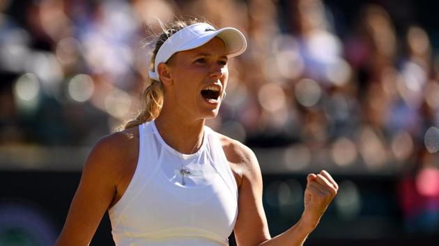 Former World No. 1 Caroline Wozniacki came within two points of defeat against unseeded Estonian Anett Kontaveit before recovering to win 3-6, 7-6(3), 6-2. (Twitter )