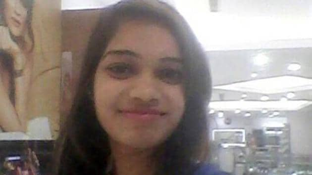 Aspiring airhostess Riya Gautam, who was stabbed to death in Delhi. (Raj K Raj/ HT Photo)