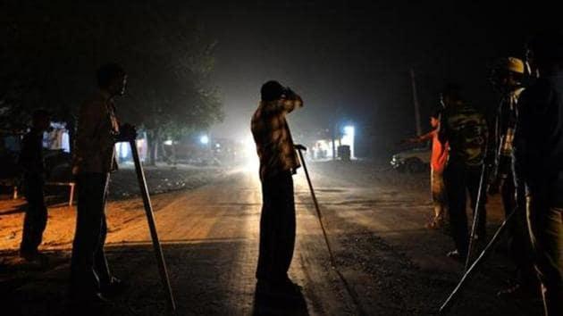 Volunteers of a cow protection vigilante group patrol a highway in Rajasthan.(AFP file photo)